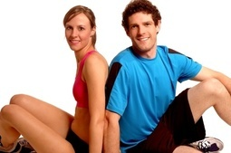 Photo of male and female fitness clients.