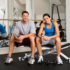 Photo of male and female fitness professionals.