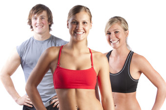 Image of a group of professional fitness trainers and instructors.